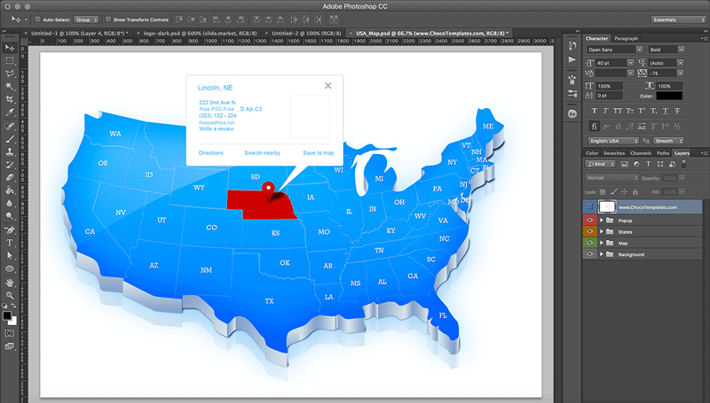 Best Templates with Map of United States - Templates.vip