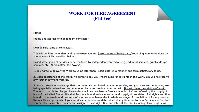 Best Work For Hire Agreement Templates Templatesp
