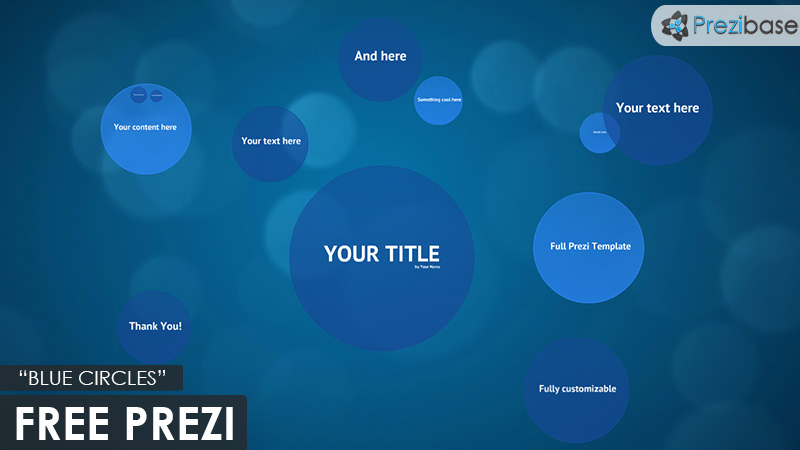 free blue circles template for prezi