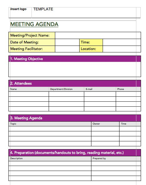 5 Best Meeting Minutes Templates Templatesvip – Free Sample Minutes of Meeting Template