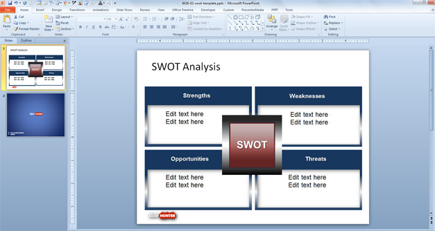5  swot analysis templates
