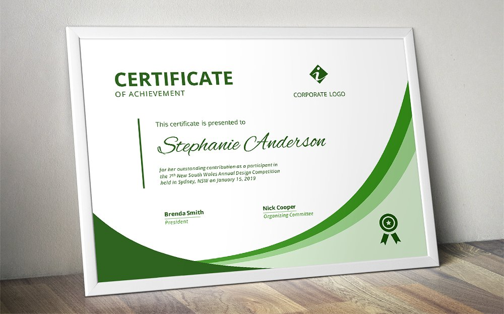 certificate of appearance template - 5 certificate templates for awards